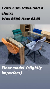 Casa 1.3 table & 4 chairs