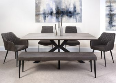 Manhattan dining table fixed top