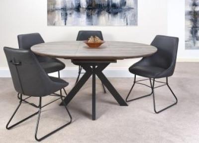 Manhattan round extending table